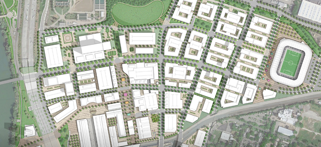Sacramento Railyards rendering