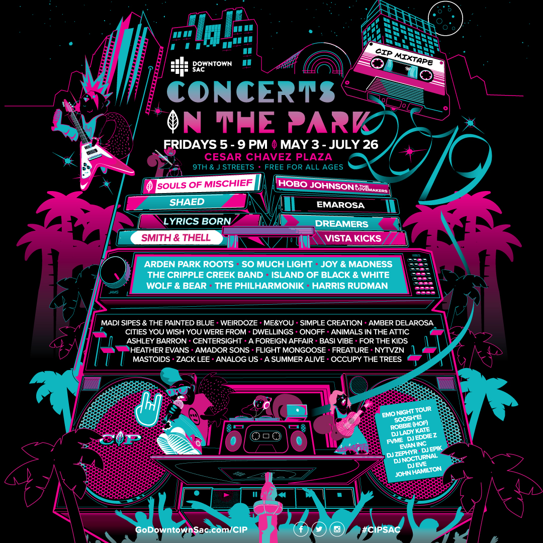 Lineup for 2019 Concerts in the Park Season Announced
